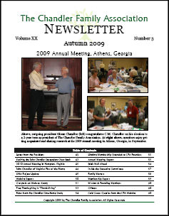 Click here to download Autumn 2009 Newsletter