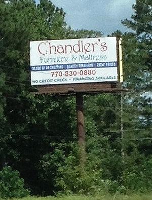 Chandler Furniture U0026 Matress Sign. Bowden Junction, GA